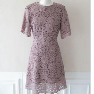 Mauve Pink vintage lace dress